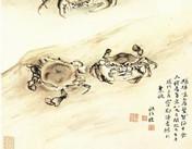 历代书画大师与大闸蟹的情节