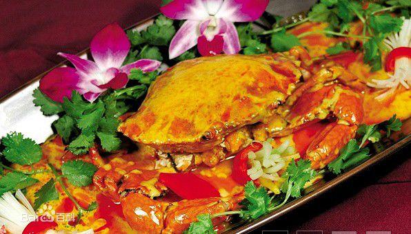 咖喱大闸蟹的做法