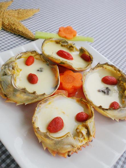 蟹黄山菇滑蛋羹